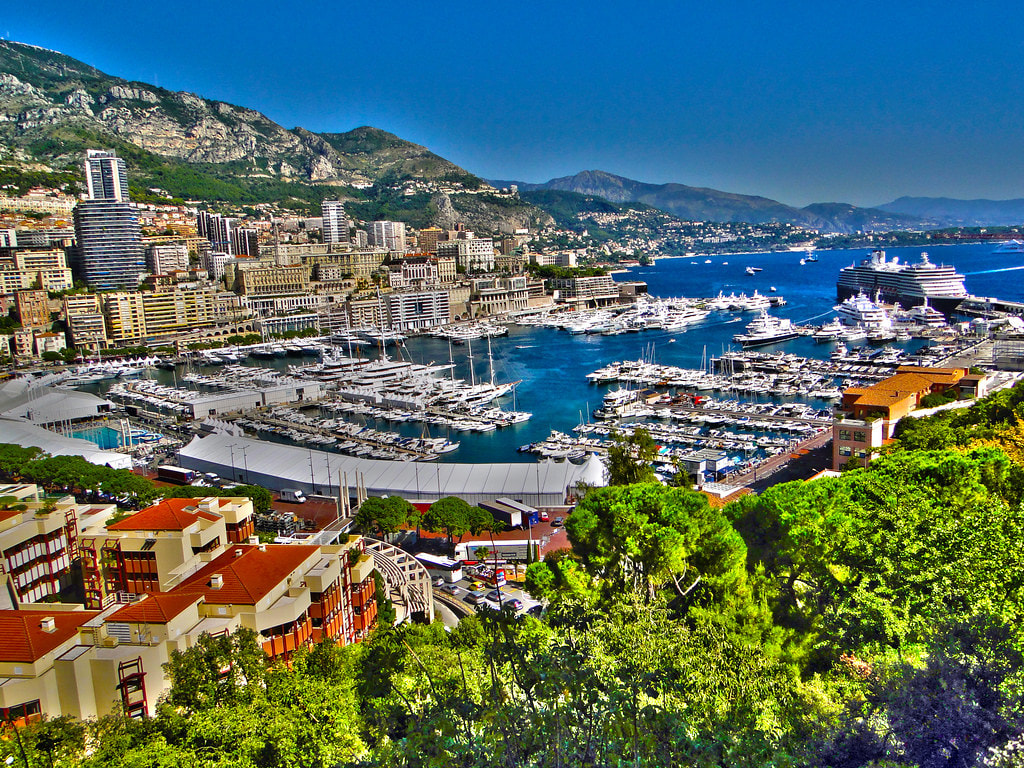 Beautiful oceanside scene of Monaco